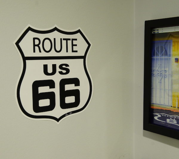 route 66 indoor wall graphics
