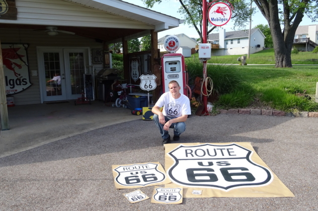 Route 66 Die-Cut Outdoor Sign Peel and Stick