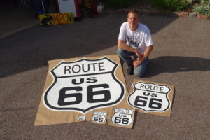 route 66 outdoor sign