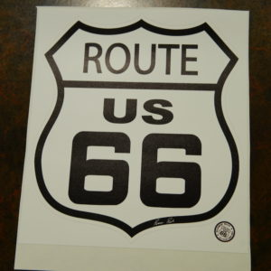 route 66 die cut sign wall graphic
