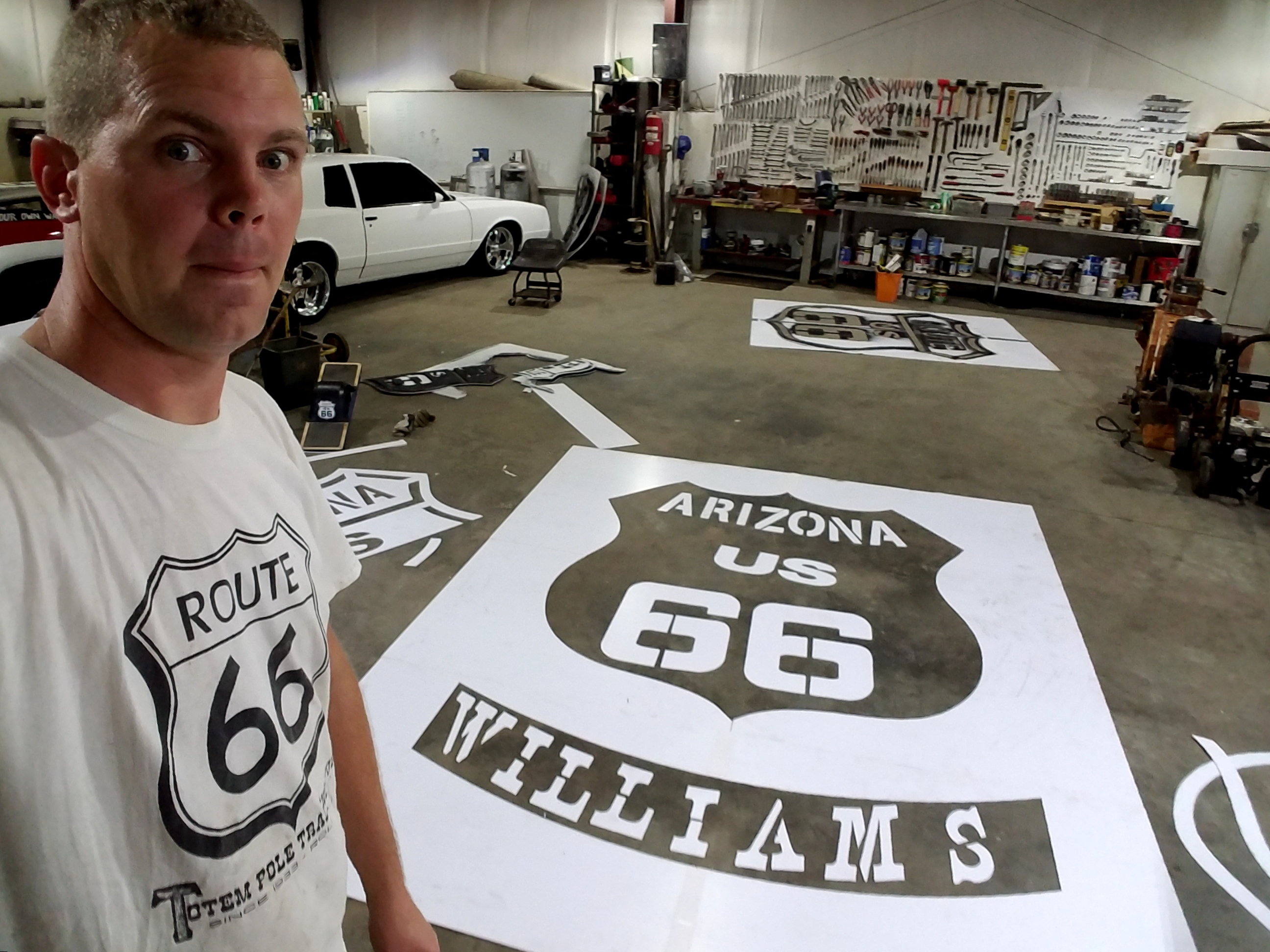 Williams AZ Route 66 Stencil
