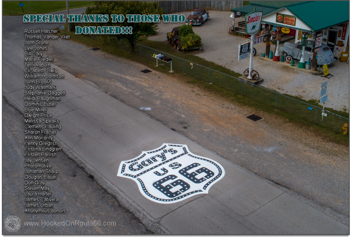 Gary Turners Gay Parita Sinclair on Route 66 Big Stencil